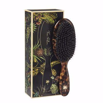 Fam Palm Hair Brush. Medium- Turtle