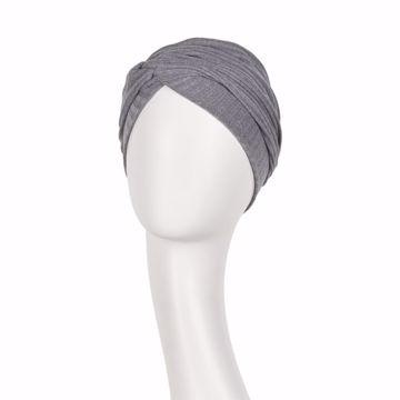 Rosa V Turban Grey Melange Rib