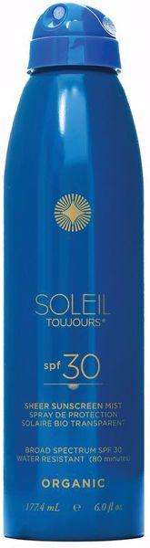 Organic Sheer Sunscreen Mist Spf 30 177 ml