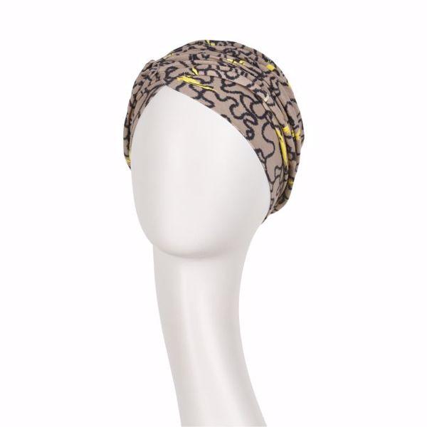 Rosa V Turban Printed Twirls & Splashes